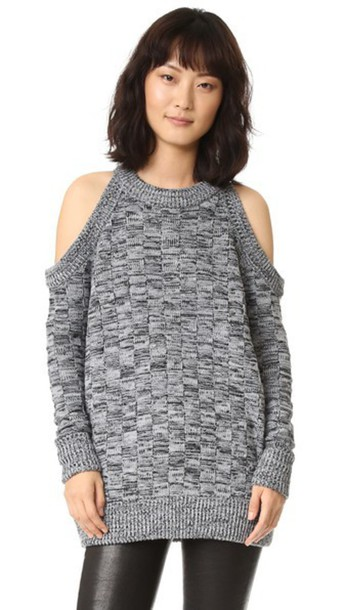 The Fifth Label Abstraction Knit Sweater - Grey Marle