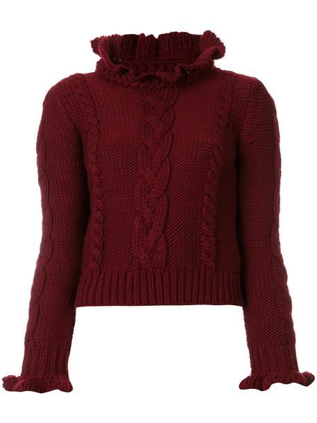 See by Chloe sweater women wool knit red