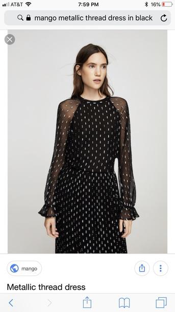 dress mango metallic dress