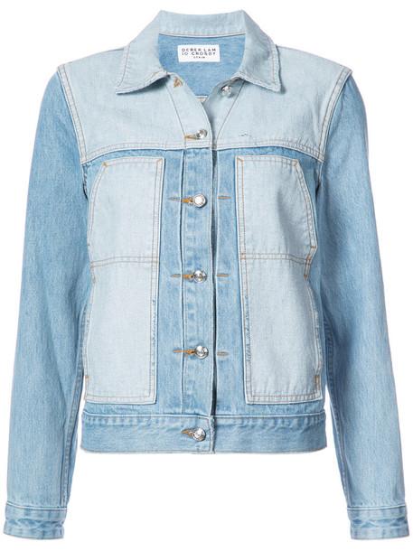 DEREK LAM 10 CROSBY jacket women spandex cotton blue