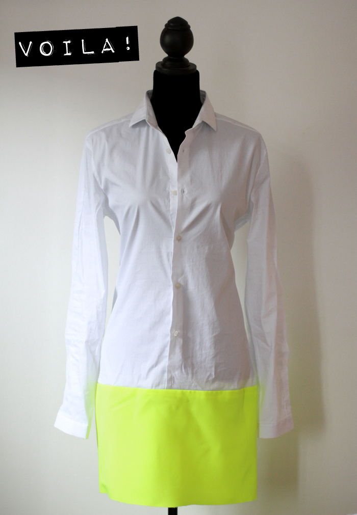 Style scrapbook: diy: bicolor dress