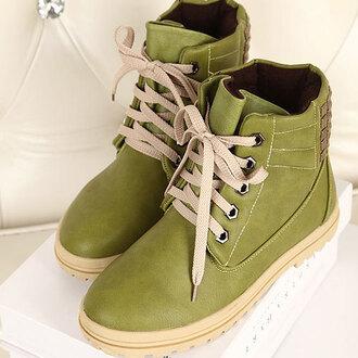 shoes fashion boots rivet warm