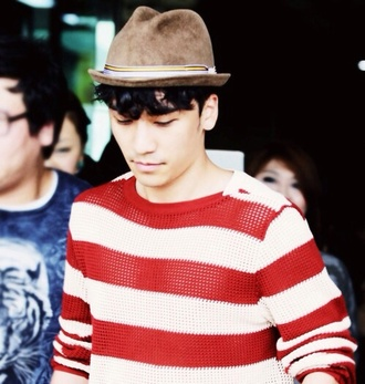 blouse seungri red swag cute big bang vip white red and white tumblr kpop kstyle korean fashion korean style
