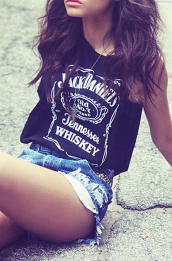 tank top black whiskey