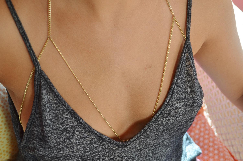 flash sale cici rustic gold chain bralette body jewelry