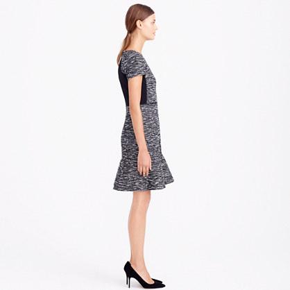 Mixed tweed dress