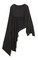 Asymmetrical cape in black by donna karan