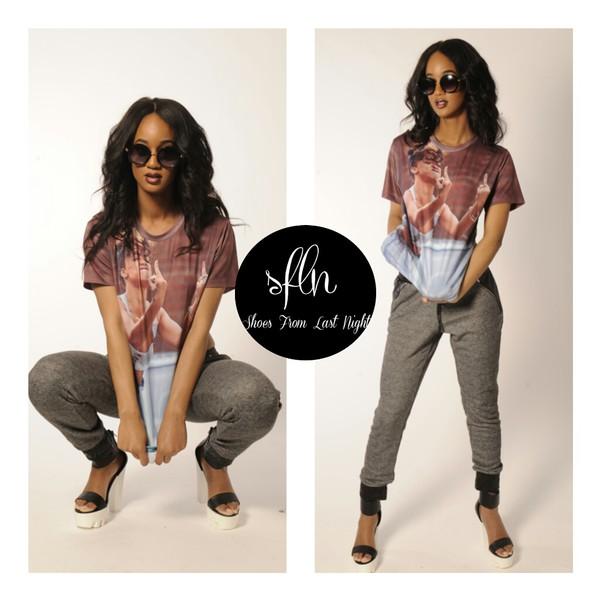 ... black girls slayin rihanna leather joggers style summer shorts summer