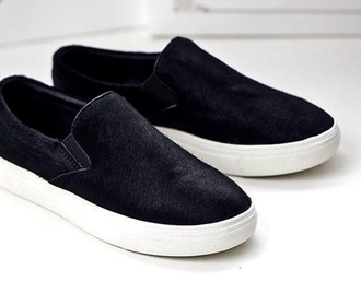 black and white loafers vans boyish