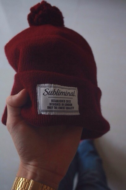 hat winter outfits swag yolo hipster funny tumblr vintage art sub red burgundy gold watch gold watch jeans skiny jeans Casio