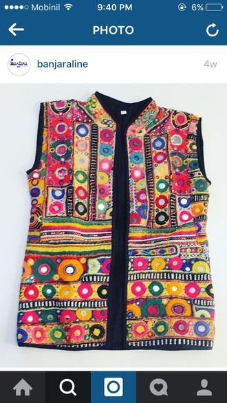 jacket vest banjara handmade indian banjara vest ibiza hippie boho bohemian