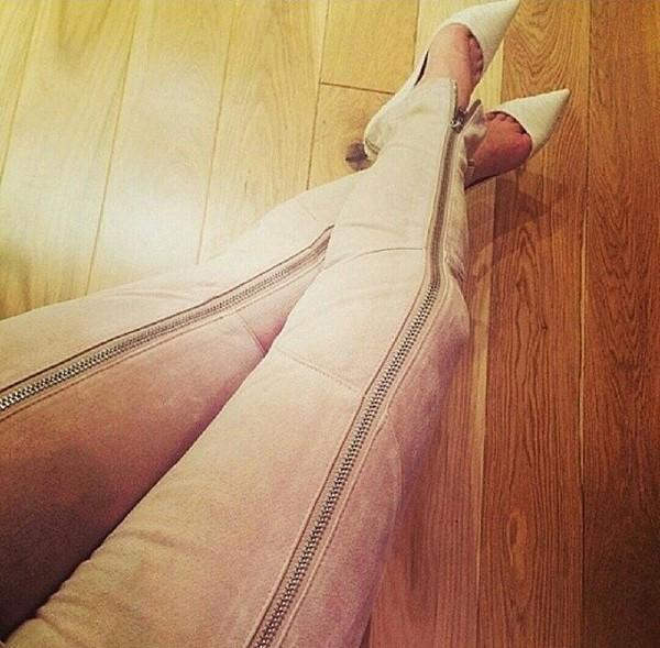 jeans baby pink pink zip