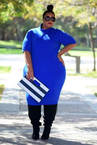 garner style blogger plus size plus size dress blue dress