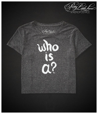 Pretty Little Liars Who Is A? Boxy Crop Graphic T -
