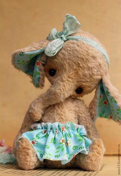 elephant hair accessories stuffed animal