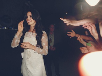 dress lana del rey white dress