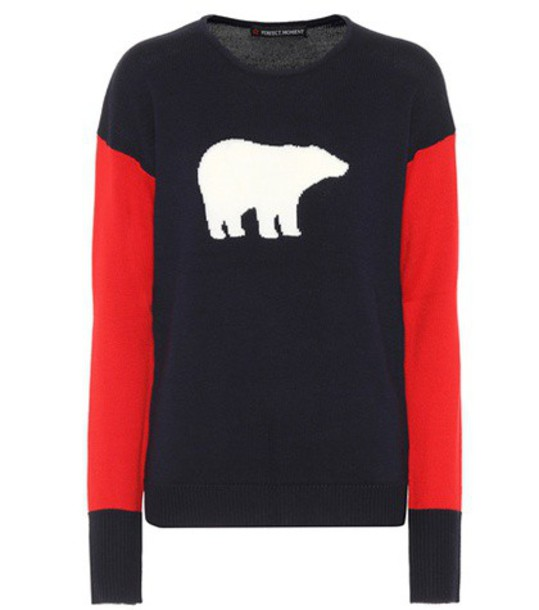 Perfect Moment sweater bear wool blue