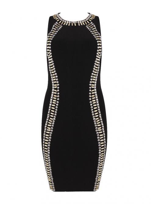 Beaded Sleeveless Bandage Dress H914 $139