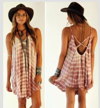 faded summer outfits pink hat tie dye