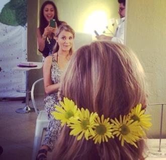 sunflower hair accessories