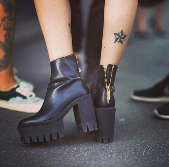 shoes cute platforms platform shoes platform high heels black