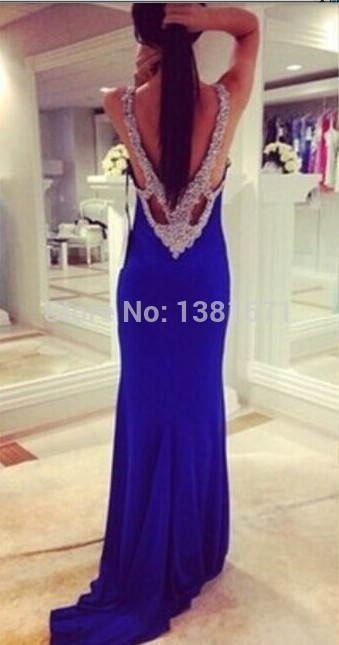 Aliexpress.com : Buy Free Shipping Stunning Luxury Beading Backless Floor Length Long Evening Dress 2014 from Reliable beaded womens dresses suppliers on Aojia Top Evening Dress