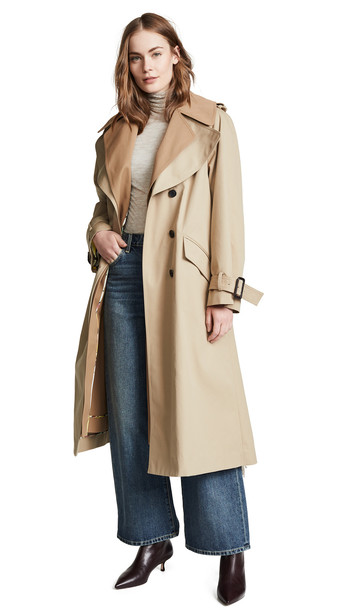 Adam Lippes Trench Coat in khaki / tan