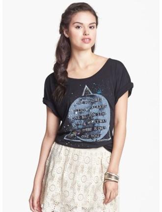 skirt galaxy print blouse cute earth stars triangle