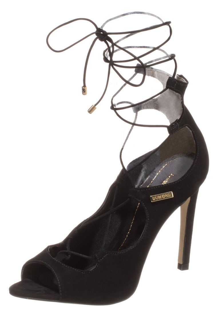 Dumond High Heel Sandalette - nobuck preto - Zalando.de