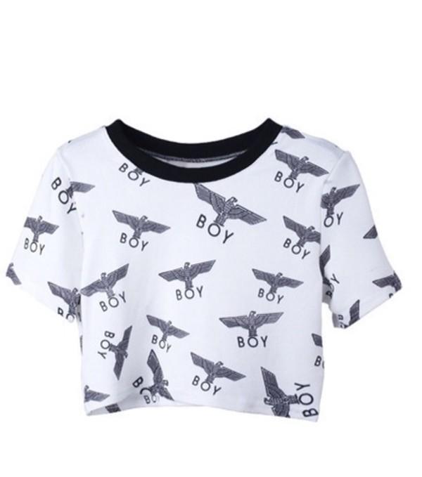 t-shirt boy london crop tops
