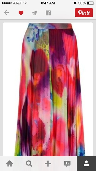 colorful multicolor skirt skirt pretty