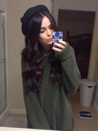 sweater acacia brinley hat long hair cover for iphone cover necklace nail polish jewels bag