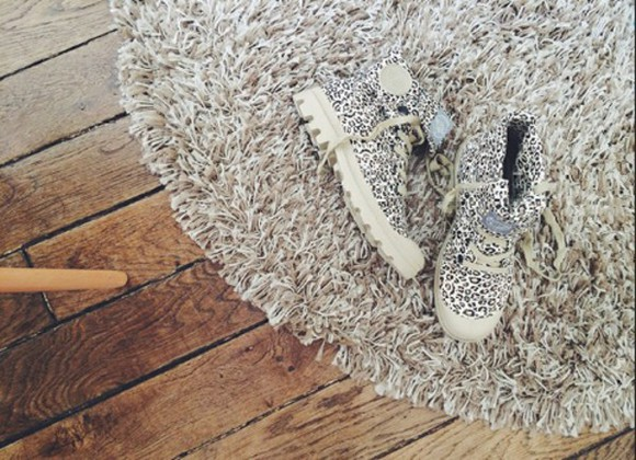 palladium leopard print blanche
