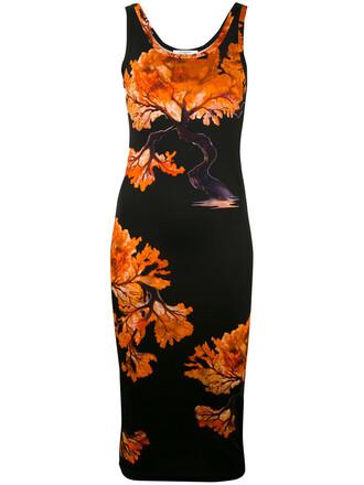 dress women spandex tree black