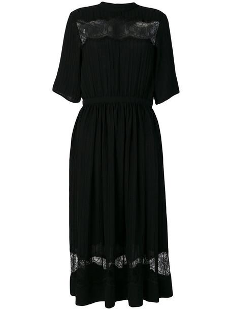 dress women lace black silk