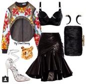 jacket,bag,jewels,skirt