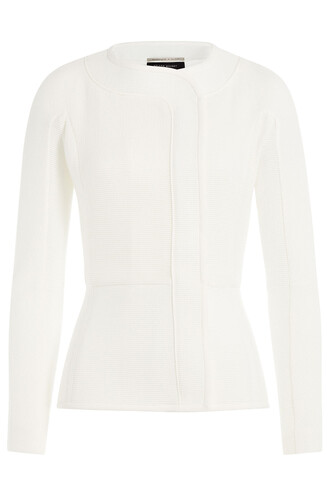 jacket peplum jacket cotton white