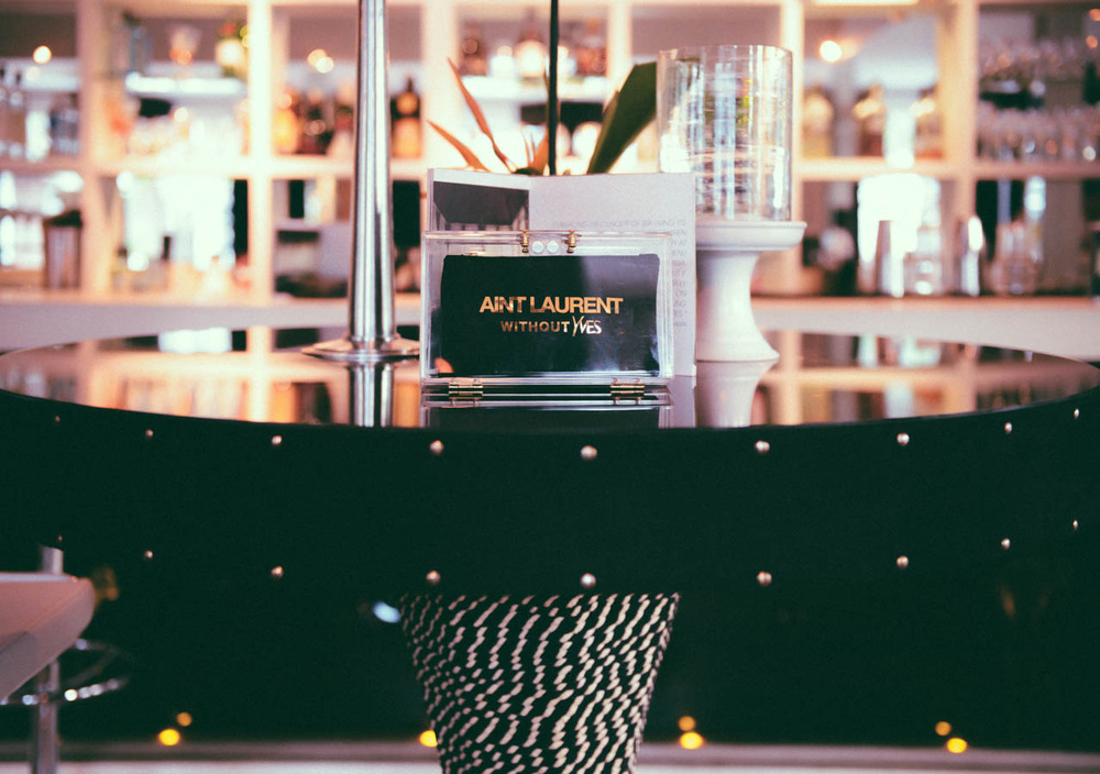 Aint laurent gold/silver personalised perspex clutch  / mno.logie