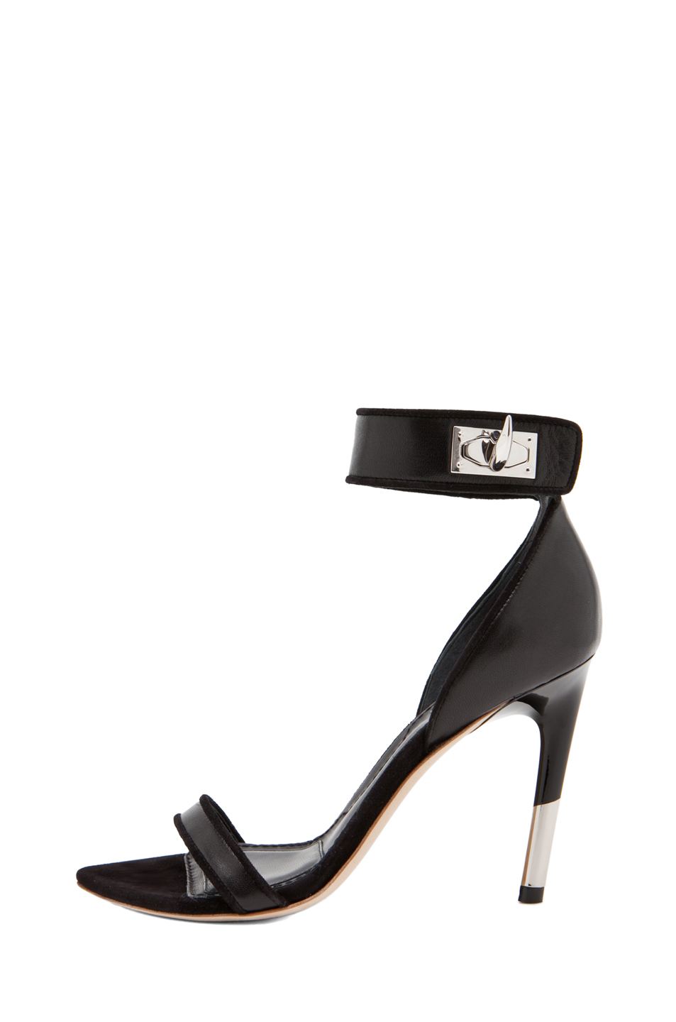 GIVENCHY|Guerra Nappa Leather Heel in Black