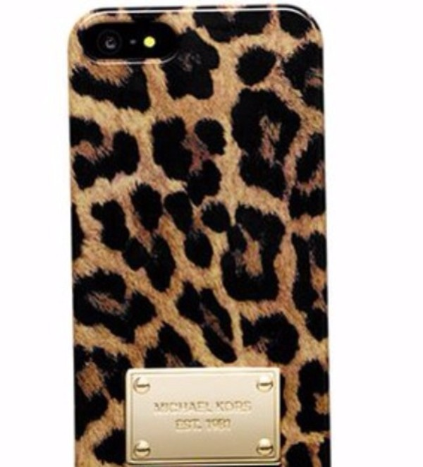 jewels phone cover iphone5s animal print gold plated wanna have