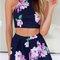 Sexy printed beach two-piece dress