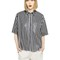 Laser perforated nappa leather shirt