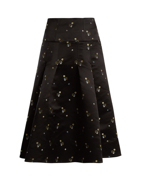 Erdem skirt satin black