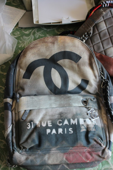 chanel bag fashion grunge backpack sale shine by three