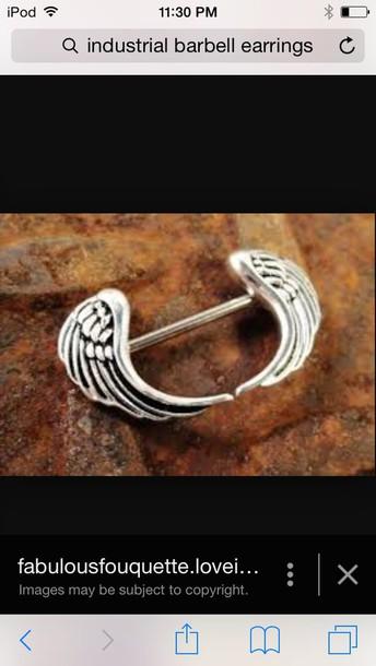 jewels earrings angel wings