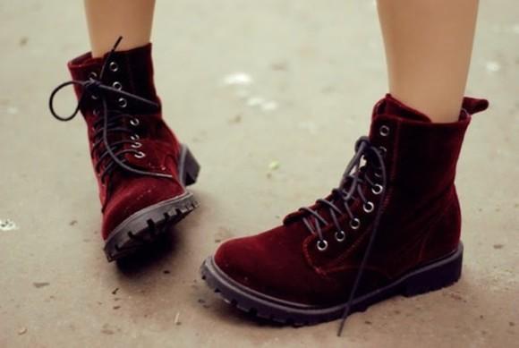 shoes boots DrMartens docs DrMartens drmartins grunge 90s 90s fashion 90s grunge velvet velvet boots red red velvet