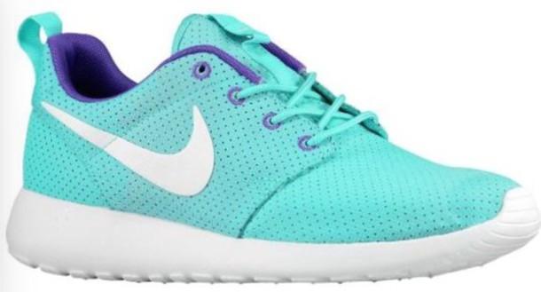 shoes nike roshe turquoise