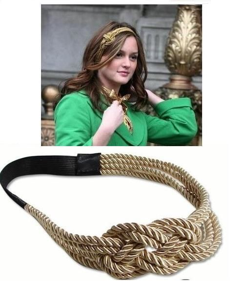 Gossip girl blair leighton meester sunshine golden string headband celebrity