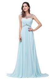 dress,prom dress,evening dress,high low prom dresses,long prom dress,beading prom dresses,handmade prom dresses,light blue prom dresses,simple prom dresses,elegant prom dresses,classy prom dresses,modest prom dresses,okdresses