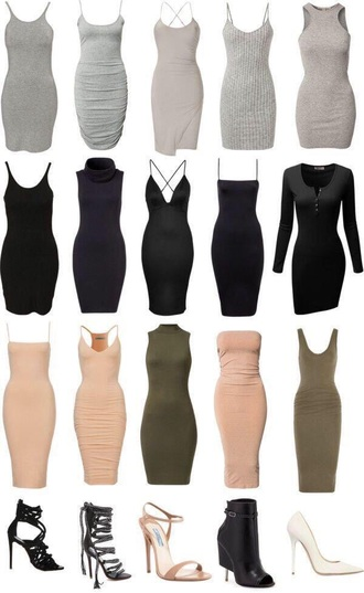 grey dress bodycon dress nude dress black dress green dress high heel sandals dress grey celebrity style h&m olive green tan nude tight body tube dress knitted dress